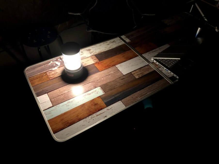コールマンバッテリーガードLEDランタン1000単体での明るさ