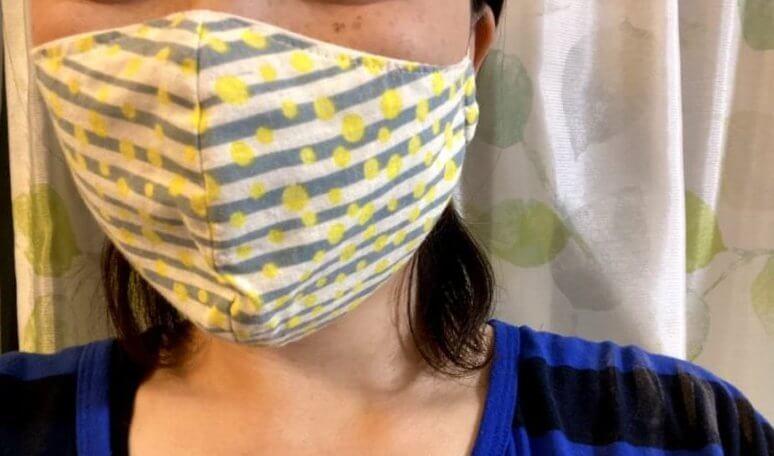 洗浄前の布マスク