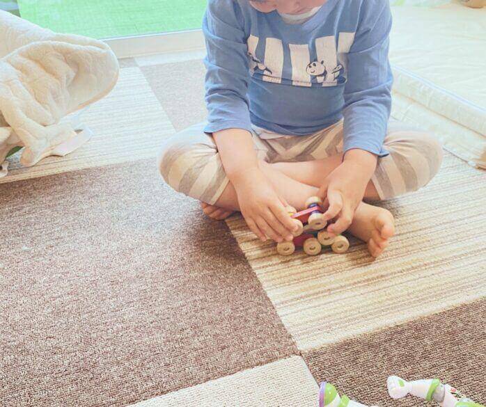 3才のくるくるスロープ遊び方